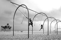 Swinging on Santa Monica Beach 04